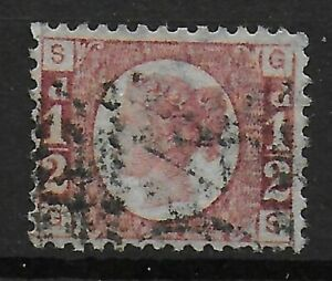 SG48-1-2d-Rose-Red-Plate-13-FU-With-Very-Good-Original-Colour-Ref-06106