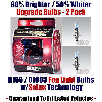 2-Pack Upgrade Fog Light Bulbs - 80% Brighter 50% Whiter EiKO 01003 / H155 CVSU2
