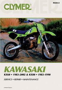 image is loading clymer-repair-service-shop-manual-vintage-kawasaki-kx60-