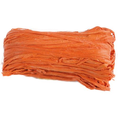 Dekoband Raffia Bast 4mm 50g orange Raffiaband Bund Schleifenband Geschenkband