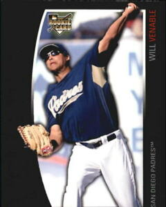 2009 (PADRES) Topps Unique #197 Will Venable Rookie Baseball Card /2699