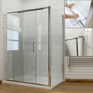 Sliding Shower Door Walk In Enclosure and Tray 6mm/8mm Glass Screen Cubicle