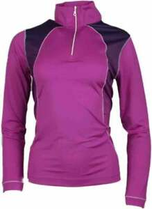Page-amp-Tuttle-Women-039-s-Mock-Neck-Pullover-Casual-Golf-Outerwear-Pink-Womens