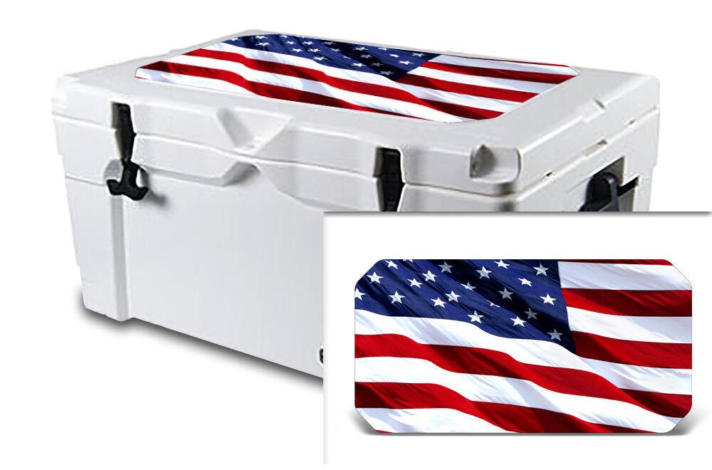 USATuff Decal Wrap Lid Kit passar IGLOO Sportsman 55qt Cooler USA s stjärnfärg
