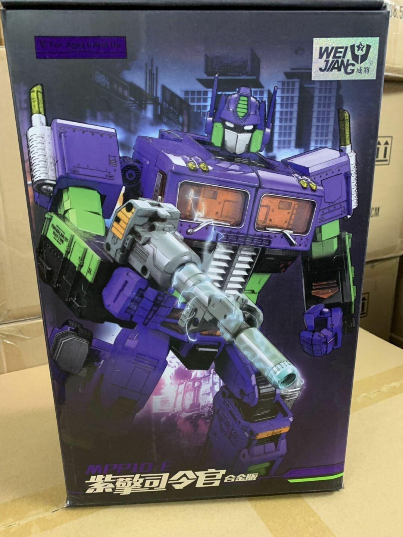 Weijiang 32cm Transformador MPP10 MPP-10E Eva Figura Optimus Prime púrpura