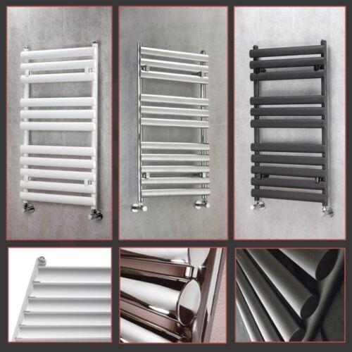 """/""""BRECON/"""" designer chrome noir /& blanc serviette chauffé rails radiateurs salle de bain"""