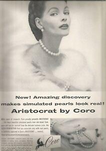 50's Coro  Jewelry Ad 1954