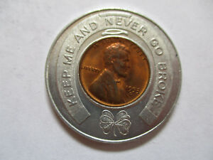 1953-Rexal-One-Cent-Sale-Good-Luck-Penny-encased-cent