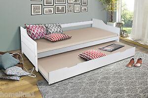 bett 90x200 funktionsbett massiv weiss klappbett g stebett jugendbett weiss ebay. Black Bedroom Furniture Sets. Home Design Ideas