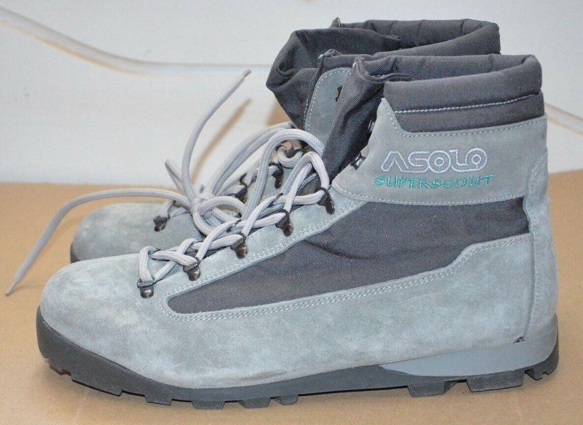 ASOLO Superscout Echtleder Schuhe Stiefel Outdoor Gr. 12 NEU Vintage Made in