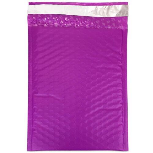 "15pcs Beauticom Lightweight Purple 6/""x9/"" Self-Seal Poly Bubble Mailer Envelopes"