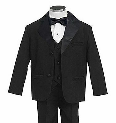 Gino Giovanni Usher Tuxedo Boy Brown from Baby to Teen