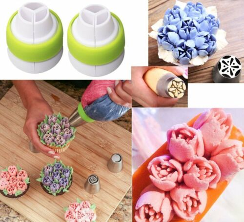 Cofe-BY Russian Icing Piping Nozzles Cake Flower Decoration Tips 21-Pcs Set for