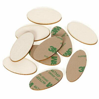 2x1cm selbstklebende Ovale Holzscheiben Holz Platten 60x30cm Basteln Deko Ti