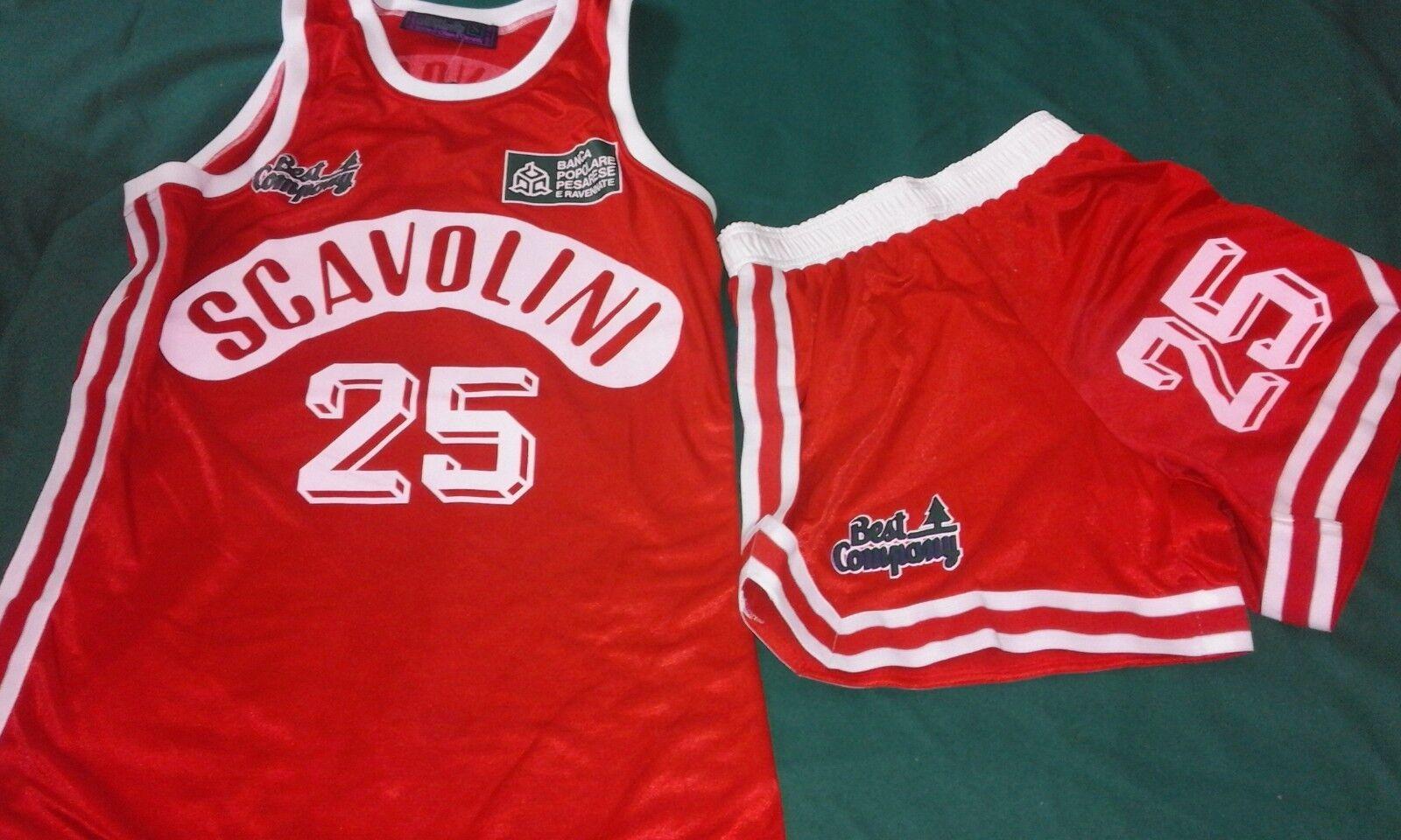 Best Company Pesaro Scavolini basket canotta shirt maglia short jersey vintage