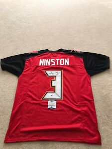 f3100fd4 Details about Custom Signed Tampa Bay Buccaneers, Jameis Winston Jersey  with Beckett COA