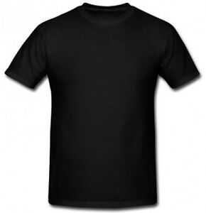 2x 3x Plain Unisex Black Gildan 100 Preshrunk Cotton T