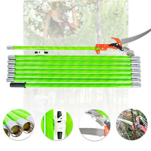 26-Feet Pole Saw Tree Trimmer Saw Tree Pole Pruner Tree Saw Trimming Cutter