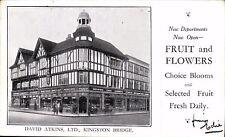Kingston Bridge. David Atkins Ltd. Shop. New Fruit & Flowers Departments.