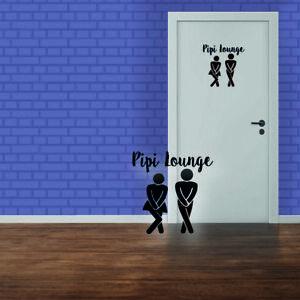 Pipi Lounge Aufkleber WC Deckel Badezimmer Wandtattoo