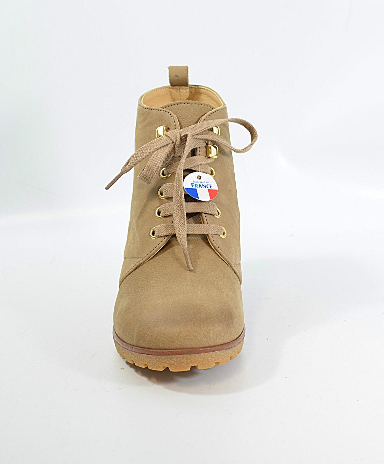 SAN MARINA Boots Gr. 39 Keilabsatz, Leder UVP 99 Damen Schuhe (R6) 5/17 M2