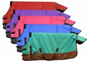 36-38-40-WATERPROOF-Turnout-Blanket-SHEET-Mini-Horse-Pony-BLU-PNK-PURP-RED-TEAL