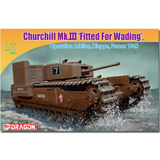 DRAGON 7520 Churchill MkIII Tank Fitted for Wading 1942 1:72 Military Model Kit