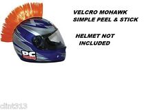 ORANGE skate helmet motorcycle helmets bmx kids Vel-Cro mohawk honda dirt bike