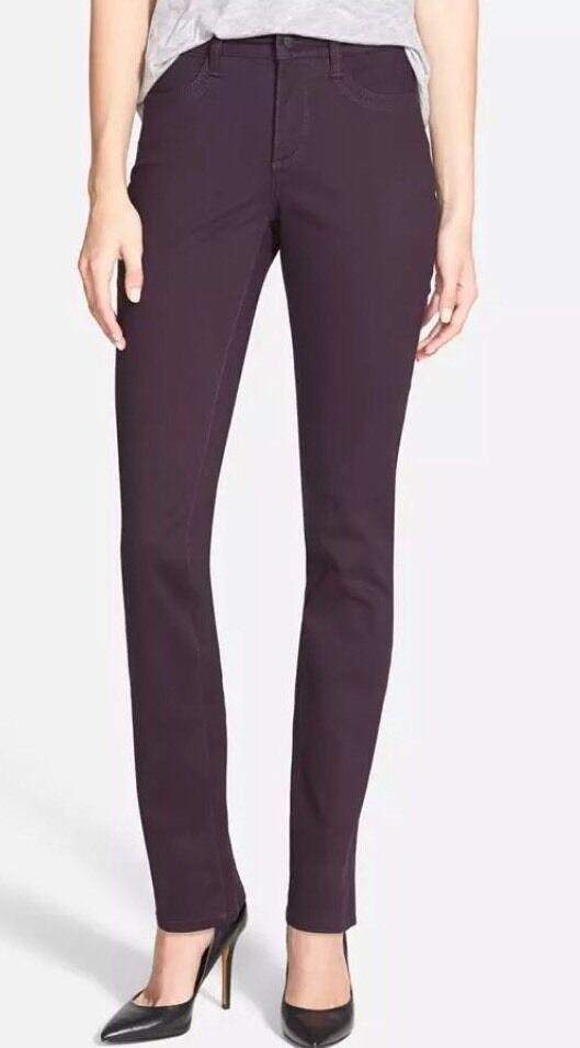 12 NWT NYDJ Samantha Super Sculpting Deep purple Slim Stretch Jeans New