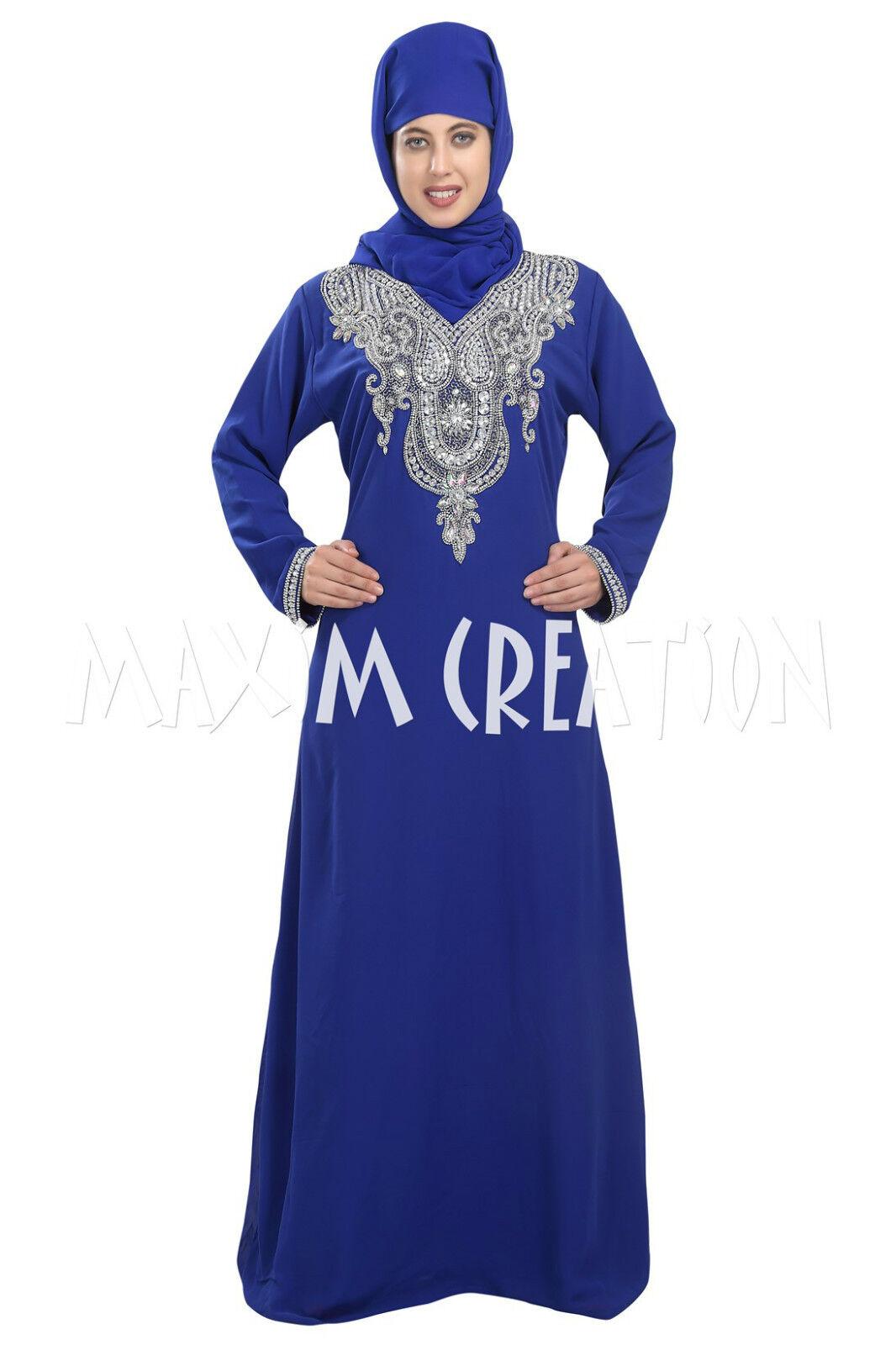 New Elegant Dubai Maxi Kaftan Abaya Party Wear Night Wear By Maxim Creation 5417