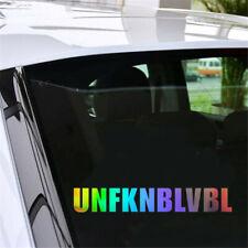 2X Funny Unfknblvbl  Vinyl Decal Car Bumper Window Door Laptop Wall Auto Sticker