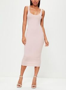 f037d650d0c3 Image is loading Missguided-Scoop-Neck-Bodycon-Midi-Dress-M36-14