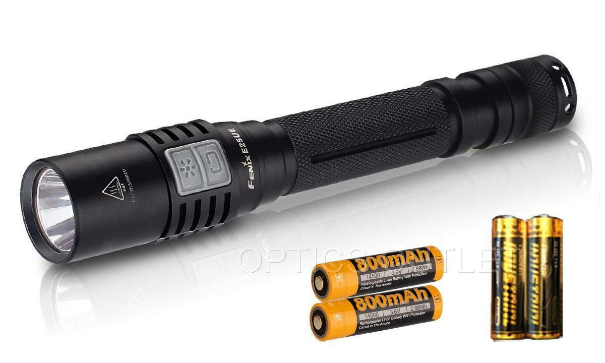 Fenix E25 Ultimate Edition UE 1000 Lumens LED Flashlight w  2 x 14500 Batteries