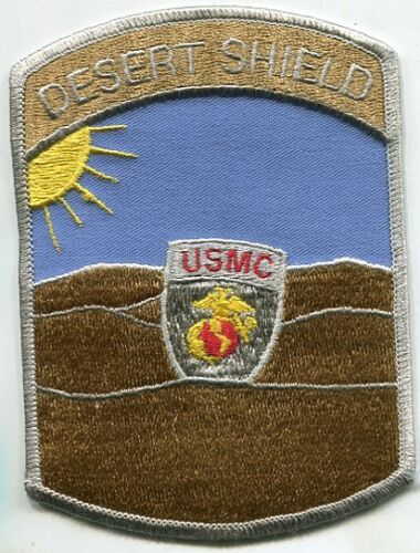 """US Marine Corps Operation Desert Shield 4/"""" x 5.5/"""" Large Square Patch"""
