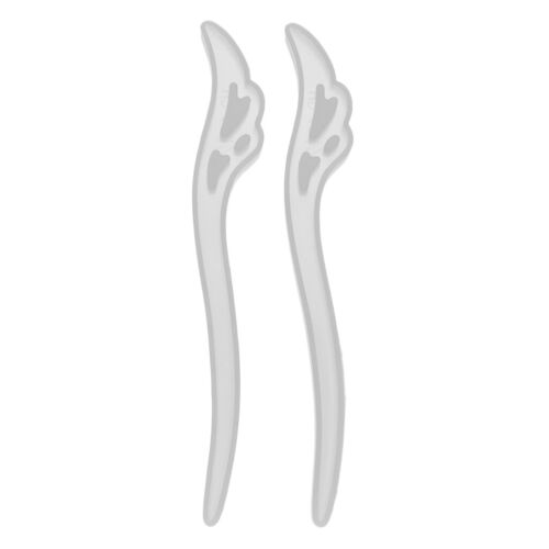 2pcs Resin Casting Silicone Mold Hair Pin Shape Jewelry Making Crafts Mold