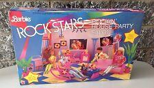 1986#Mattel Rare Barbie Rock Stars#Rockin' House Party Salon Sealed Box