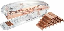 Acrylic Clear Desktop Stapler And Rose Gold With 1000 Staplesmodern Design Offi