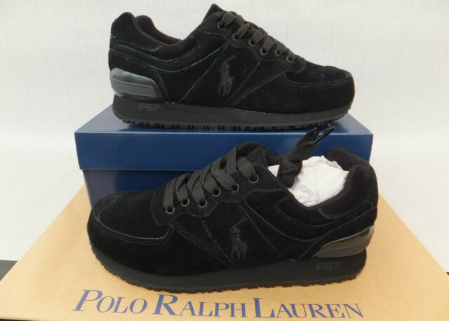 in stock outlet delicate colors Ralph Lauren Polo Cantor Low Ne Mens Canvas Trainers Black UK 12 ...