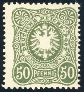 DR-1887-MiNr-44-II-b-tadellos-postfrisch-gepr-Wiegand-Mi-100