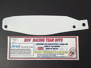 ARAI,GP-5,GP-5<wbr/>K &amp; SK5 VISOR,TEAR OFFS,CLEAR,BOB HEATH VISORS, PACKET OF 5