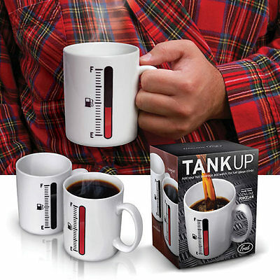 Tank Up Mug/Magic Temperature Sensor Coffee Cup/Thermometer Mug