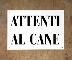 ATTENTI-AL-CANE-1-Targa-cartello-metallo-Beware-of-dog-sign-metal