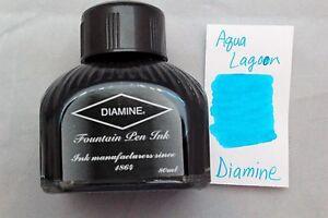 Diamine 80ml Fountain Pen Bottled Ink Aqua Lagoon