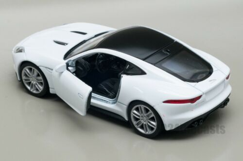 Jaguar F-Type Coupe white model toy car gift Welly scale 1:34-39