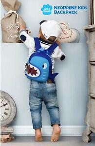 Kids baby shark neoprene backpack