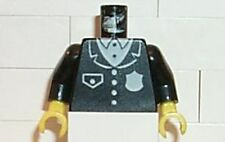 LEGO - Minifig, Torso Police Suit w/ White Badge and Pocket Pattern - Black