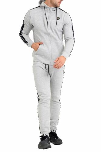 Mens Hooded Hoodie Sweatshirt Sergio Italia Jog Joggers Top Gym Sports Tracksuit