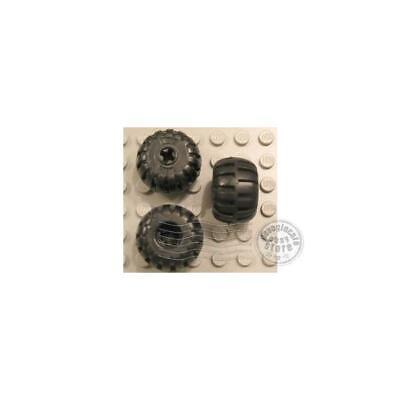 2x LEGO 4288 Ruota Gomma arrotondata Nero428826