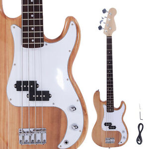 new professional wood color 4 string electric bass guitar ebay. Black Bedroom Furniture Sets. Home Design Ideas