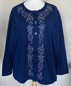 Liz-Me-Catherines-Button-Front-Sweatshirt-Cardigan-Christmas-Ornaments-3X-26-28W